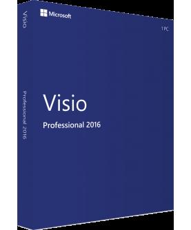 Microsoft Visio Professional 2016 Deutsch/Multilingual (D87-07114)