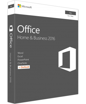 Microsoft Office 2016 Home and Business fuer Mac Deutsch/Multilingual (W6F-00627)