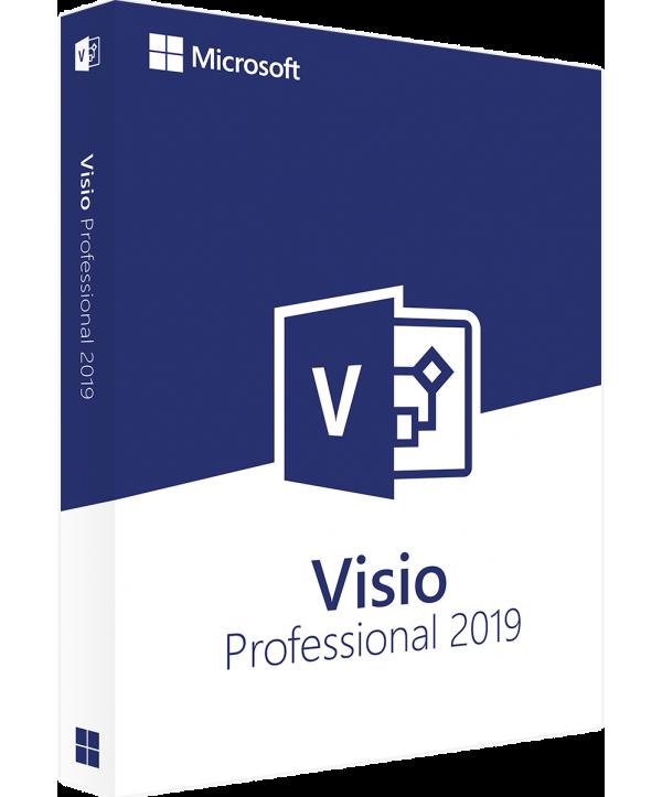 Microsoft Visio Professional 2019 Deutsch/Multilingual (D87-07425)