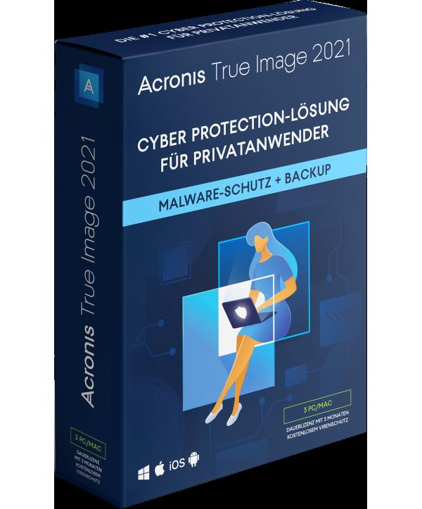 Acronis True Image 2021 3 PCs/Macs Dauerlizenz