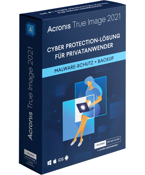 Acronis True Image 2021 1 Jahr 1 PC/Mac